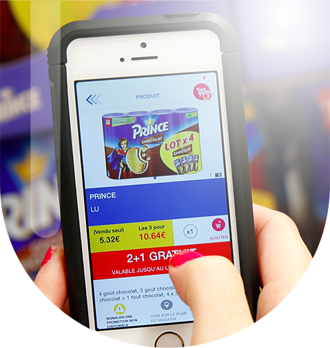 Eroiq produit pour Carrefour